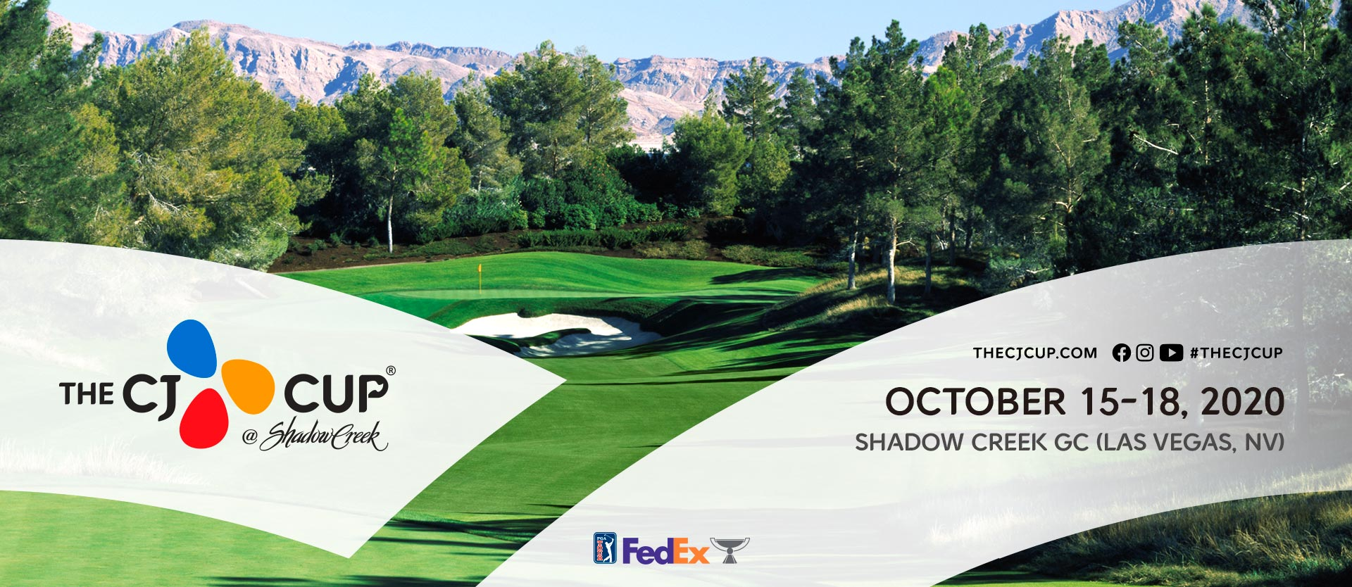 the cj cup SHADOW CREEK, NV, USA / OCTOVER 15-18, 2020 SHADOW CREEK, NV, USA