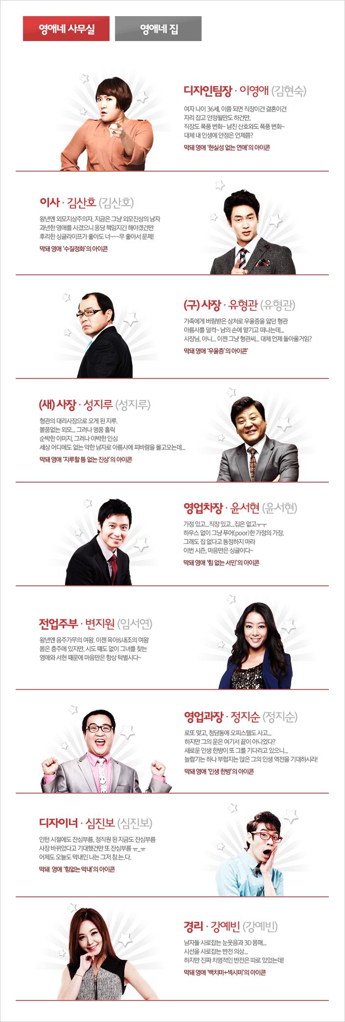 막돼먹은 영애씨 시즌11 > 캐릭터 소개: program.interest.me/tvn/youngae11/2/Board/View