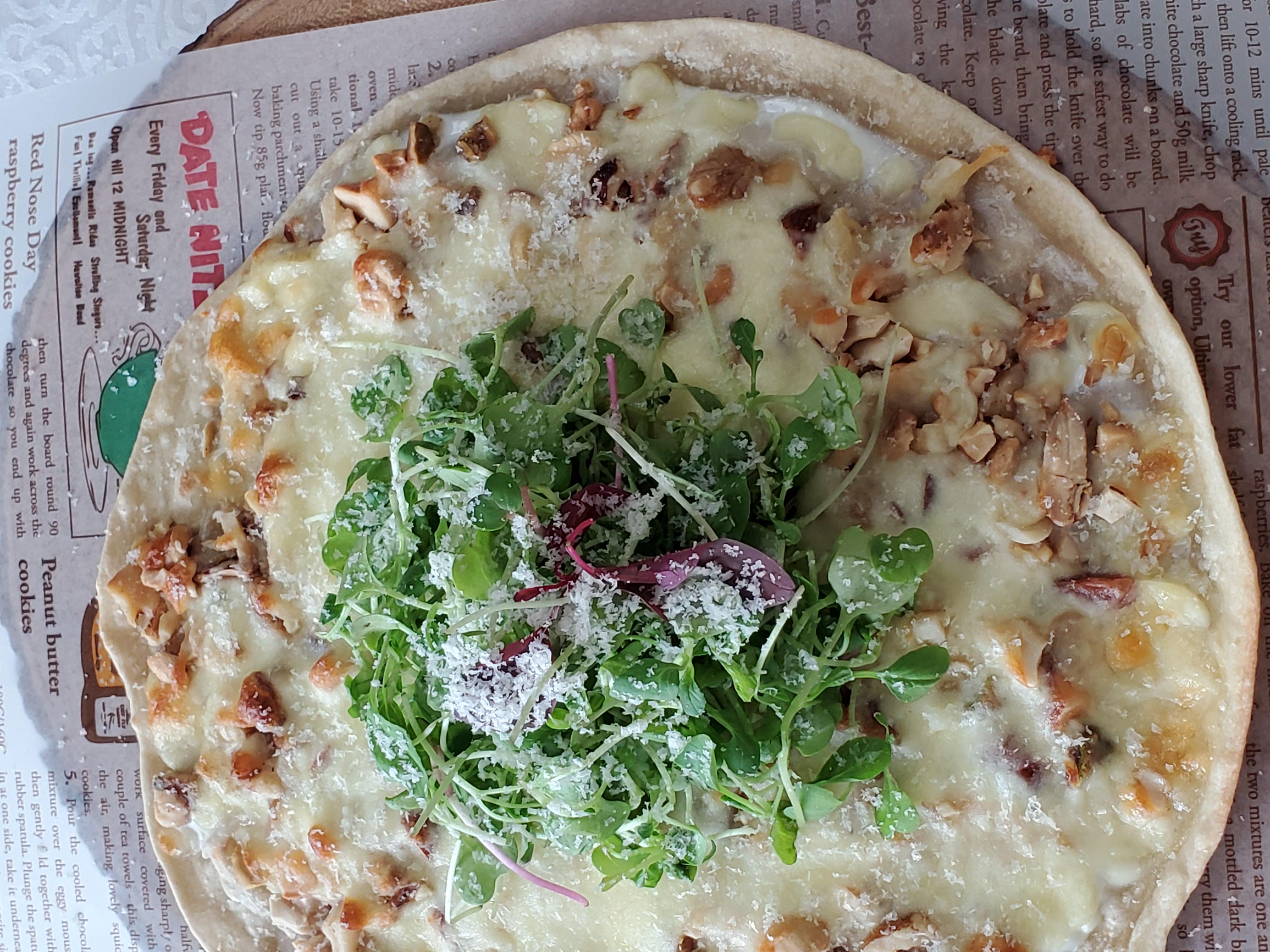 요거트+견과류+피자