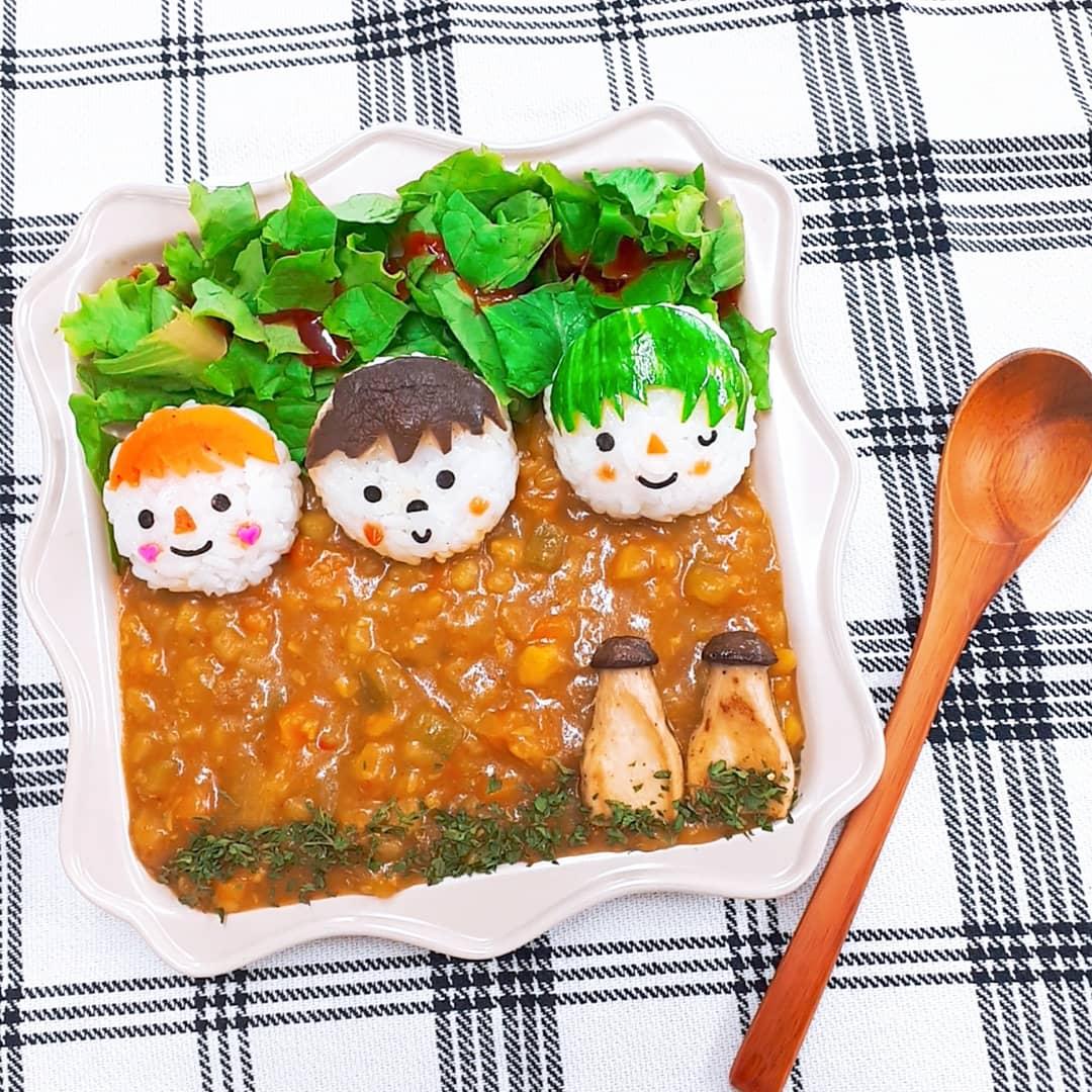 주먹밥+카레라이스