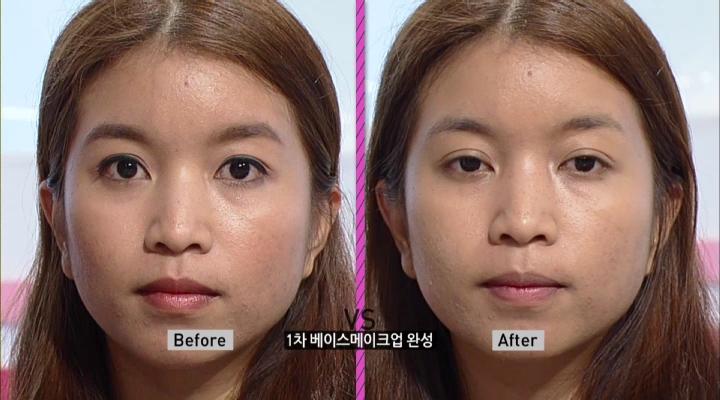 * <b>[TIP]</b> 트러블이 심한 피부 커버의 경우 일일이 가리지 말고 전체적으로 넓게 커버합니다.