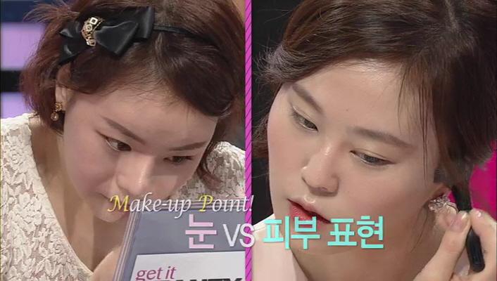 1) 메이크업 시연은 베러걸스 차지현양과 김선한양이 참여해 주셨어요.  실제 두 분이 메이크업을 한 후 증명사진을 찍기로 했어요.
