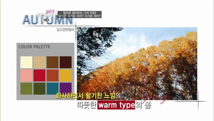 깊고 강한 컬러들이 가득한 고급스러운 따뜻한 타입의 가을 Color!