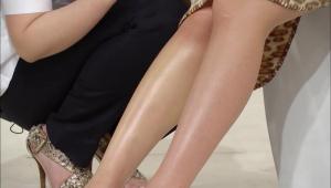 종아리 마사지를 한 것과 안 한 다리의 차이가 큰 것 보이시죠!