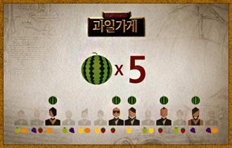 2. 사과, 포도, 참외, 감귤은 각각 4명,  딸기와 수박은 각각 5명의 플레이어가 판매한다.