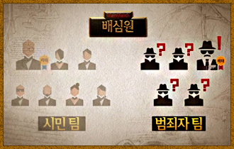 2. 범죄자 팀은 서로의 정체를 알 수 있지만 누가 범죄자 팀의 리더인지는 알 수 없다.