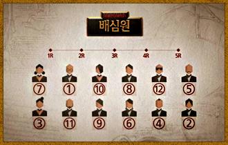 6. 플레이어들은 제비뽑기를 통해 1명씩 '배심원장'이 되며 배심원장은 해당 라운드의 재판에 참여할 배심원단을 선발한다. (배심원장 본인도 배심원단에 포함할 수 있다.)