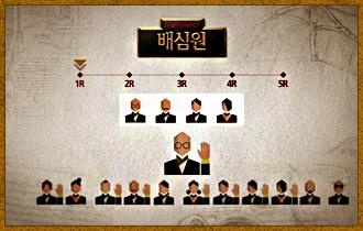 8. 선발된 배심원단에 대해 거수로 찬반투표를 진행, 과반수가 찬성할 경우 해당 배심원단이 재판에 참여하게 된다. 과반수가 반대하거나 동수가  나올 경우, 배심원단은 해산되고 다음
