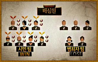 14. 게임 결과 승리 팀은 모두 생명의 징표와 가넷 2개씩을 획득하게 되며 패배팀 중 1명을 탈락후보로 결정한다.