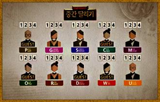 4. 플레이어들의 캐릭터 선택이 끝나면 이동에 사용될 이동카드를 받는다.