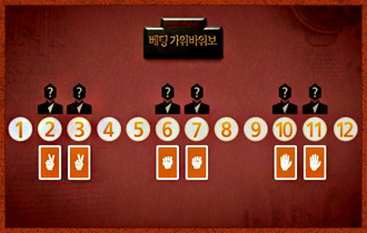 2. 가상의 플레이어는 2, 3, 6, 7, 10, 11라운드의 대결 상대가 되며, 그들의 표식은 2, 3라운드는 가위 6, 7라운드는 바위 10, 11라운드는 보로 미리 정해진