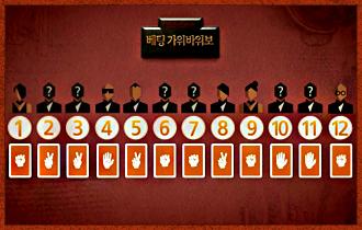 4. 라운드 순서가 정해지면 관전 플레이어들은 각자 가위, 바위, 보 표식 중 하나를 선택하여 딜러에게 전달한다. 한 번 결정한 가위바위보 표식은 게임 도중 바꿀 수 없다.