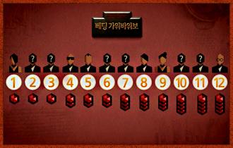 9. 가위바위보 승부에서 이겼을 경우, 1~3라운드는 칩 1개를 획득하며, 4~6라운드는 칩 2개, 7~9라운드는 칩 3개, 10~12라운드는 칩 4개를 획득한다.