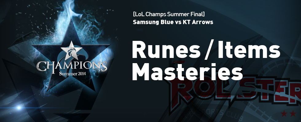 [OGN] LOL Champions Match Info. Runes, Items, Masteries