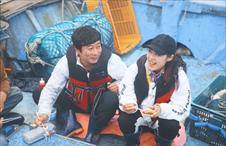 배 위의 연근남매~
