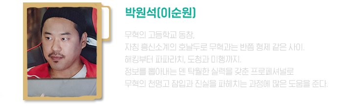박원석(기무혁의 동창, 흥신소계의 호날두)
