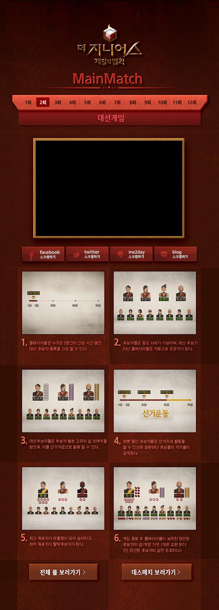 [tvN]더 지니어스:게임의 법칙 2회 메인매치 - 대선게임