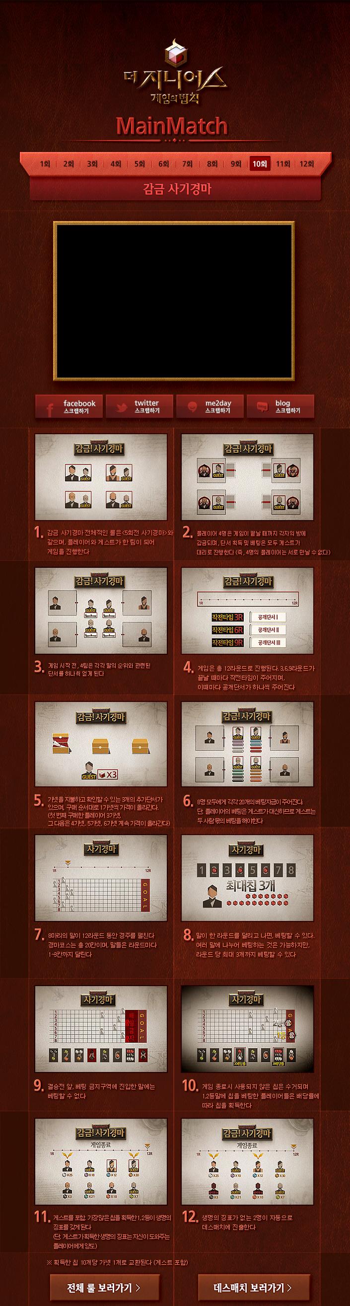 [tvN]더 지니어스:게임의 법칙 10회 메인매치 - 감금! 사기경마