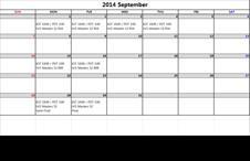 2014 September LIVE Streaming Schedule
