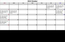 2014 October LIVE Streaming Schedule