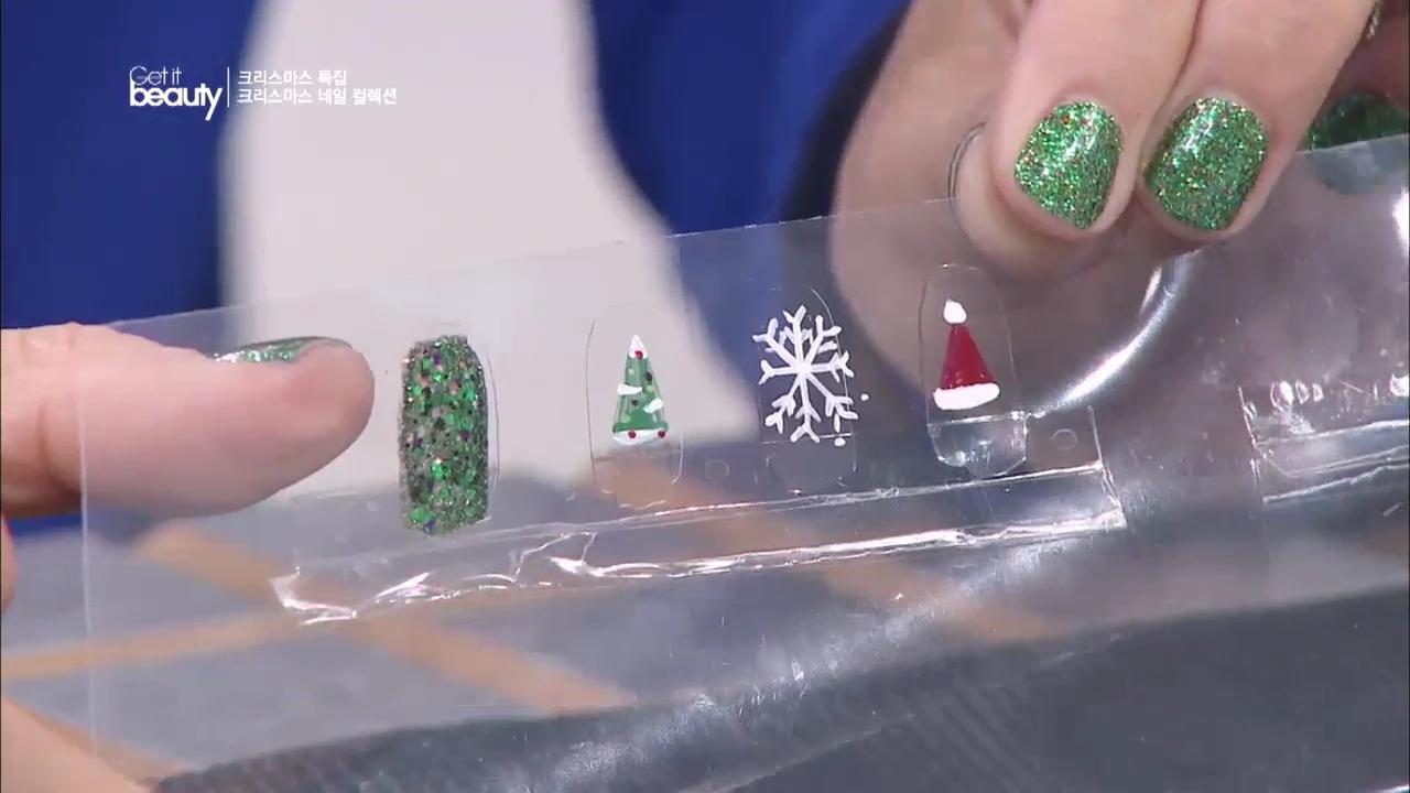 [겟잇뷰티 38화] Ⅳ. 크리스마스 네일 컬렉션 (1) : 수제 네일 스티커 만들기